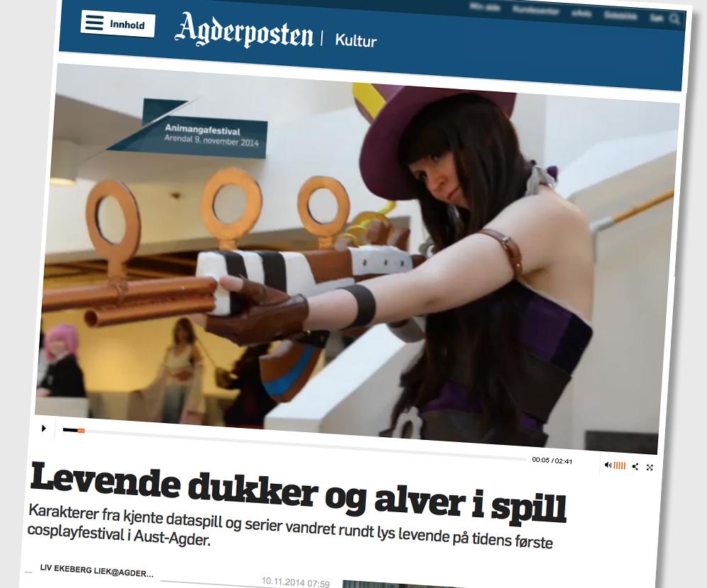 Faksimile Agderposten 2014