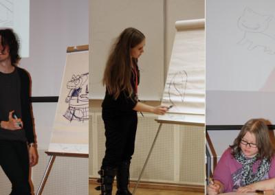 Tegnekurs med Sigbjørn Lilleeng, Mali Ravnheim og Embla Brox